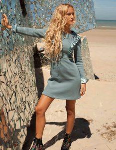 FRILLS & THRILLS DRESS *NEW BLUE* © Pola Paradis