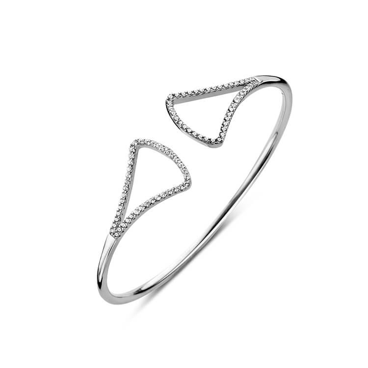 Open zilveren armband met zirkoon - Naiomy Silver